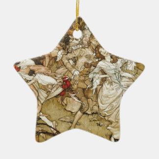 Ein wilder georgischer Tanz Keramik Stern-Ornament