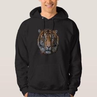 Ein wildes bengalisches Tigergesicht Hoodie