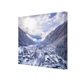 Ein Winter-Märchenland Leinwanddruck