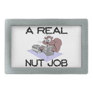 Ein wirkliches Nuss-Job-Eichhörnchen Rechteckige Gürtelschnalle