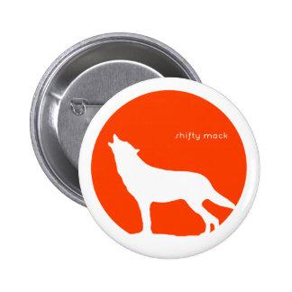 Ein Wolf-schreiendes Schaf - Knopf Runder Button 5,7 Cm