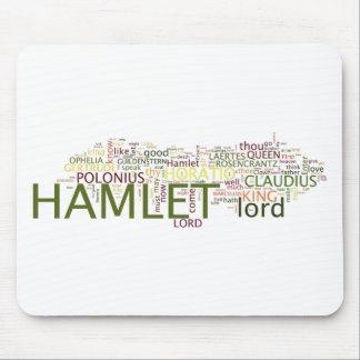 Ein wordle gemacht für den Text von Shakespeares Mauspads