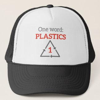 Ein Wort: Plastik Truckerkappe