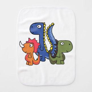Ein wunderlicher Dinosaurierfreund, niedlich und Spucktuch