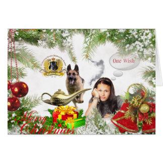 Ein Wunsch - Schäferhund-Weihnachten Karte