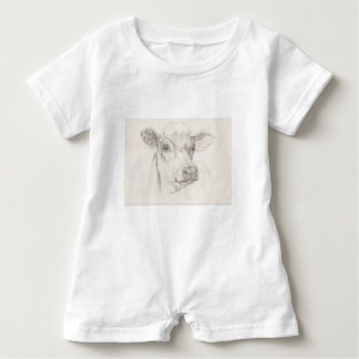 Ein Zeichnen einer jungen Kuh Baby Strampler