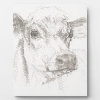 Ein Zeichnen einer jungen Kuh Fotoplatte