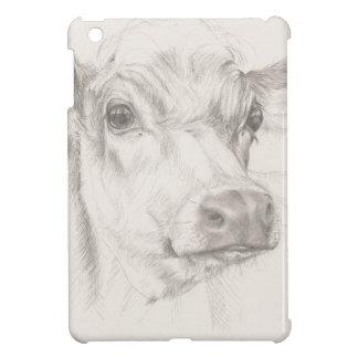 Ein Zeichnen einer jungen Kuh Hüllen Für iPad Mini