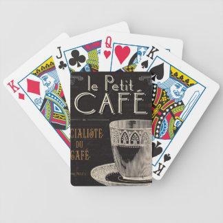 Ein zeitgenössischer Tasse Kaffee Bicycle Spielkarten