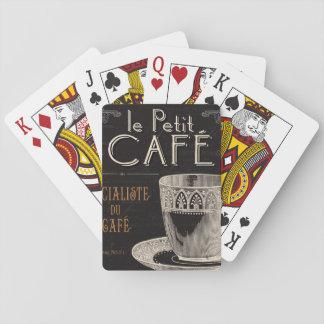 Ein zeitgenössischer Tasse Kaffee Spielkarten
