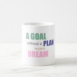 Ein Ziel ohne einen Plan ist gerade eine Kaffeetasse
