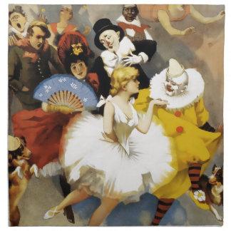Ein Zirkus der Tänzer Serviette