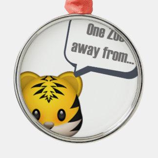 ein Zoo weg von - Emoji Silbernes Ornament