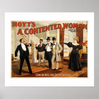 Ein zufrieden gestellte Frauen-Vintages
