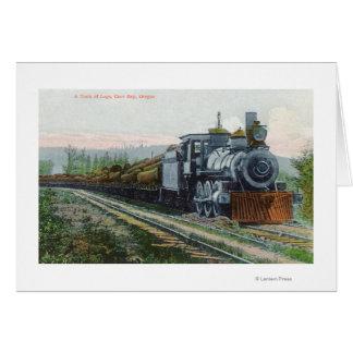 Ein Zug von LogsCoos Bucht ODER Grußkarte