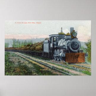 Ein Zug von LogsCoos Bucht ODER Poster