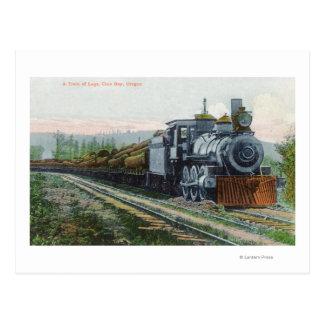 Ein Zug von LogsCoos Bucht ODER Postkarte