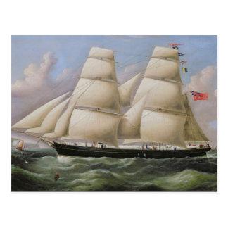 Ein zwei bemasteter Schooner vor Dover (Öl auf Postkarte