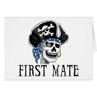 Einäugiger Piraten-erster Kamerad Karte