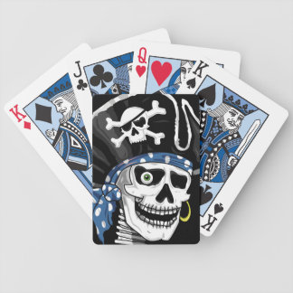 Einäugiger Piraten-Schädel Bicycle Spielkarten