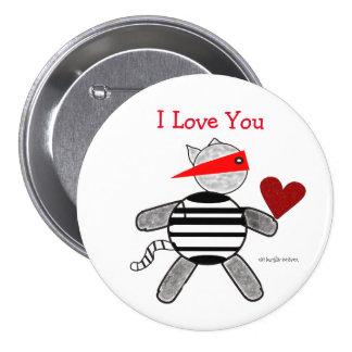 Einbrecher-Valentinsgruß-Knopf Buttons