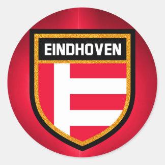 Eindhoven-Flagge Runder Aufkleber