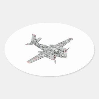 Eindringling Douglas B-26 Ovaler Aufkleber