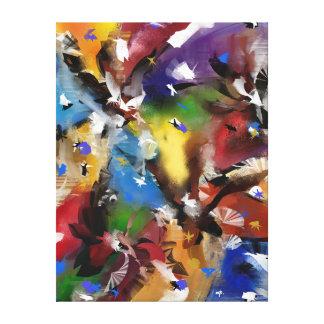 """Eindruck auf Tuch, """"Abstract 2.1705 """" Leinwanddruck"""
