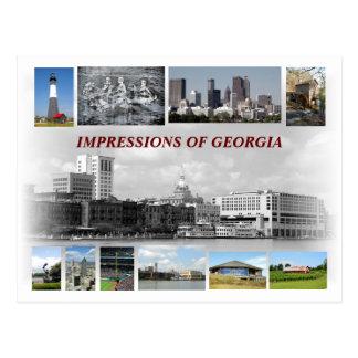 Eindrücke von Georgia, USA Postkarte