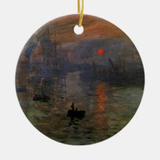 Eindrucks-Sonnenaufgang durch Claude Monet, Keramik Ornament