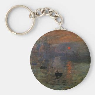 Eindrucks-Sonnenaufgang durch Claude Monet, Schlüsselanhänger