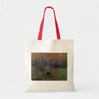 Eindrucks-Sonnenaufgang durch Claude Monet, Tragetasche
