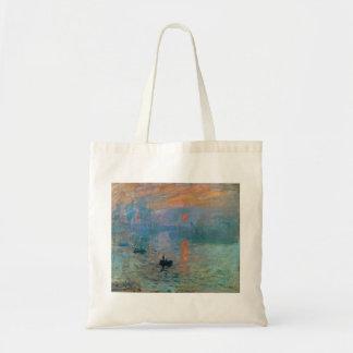 Eindrucks-Sonnenaufgang durch Claude Monet Tragetasche