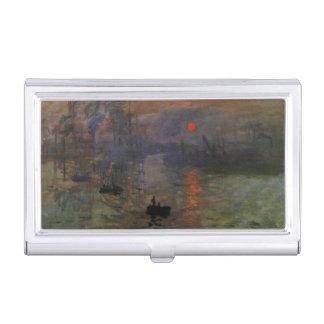 Eindrucks-Sonnenaufgang durch Claude Monet, Visitenkarten Etui