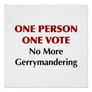 Eine Abstimmung der Personen-eine, Gerrymandering Poster