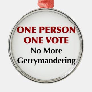 Eine Abstimmung der Personen-eine, Gerrymandering Silbernes Ornament