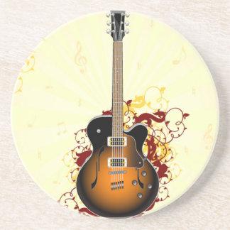 Eine abstrakte Gitarre Getränkeuntersetzer