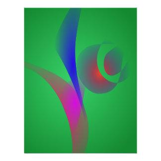 Eine abstrakte Rose Bedruckte Flyer