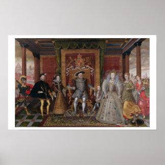 Eine Allegorie der Tudor Reihenfolge: Die Familie  Poster