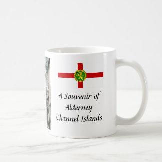 Eine Andenken von Alderney, Kanal-Inseln Kaffeetasse