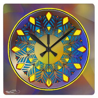 Eine andere Uhr. Veränderung auf einem Thema Quadratische Wanduhr