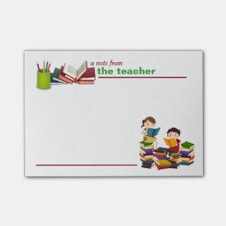 Eine Anmerkung von den Lehrer-Post-Itanmerkungen Post-it Klebezettel