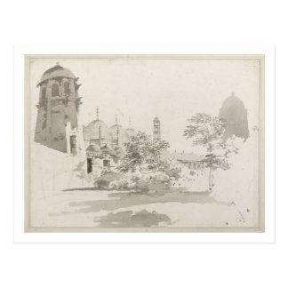Eine Ansicht des Cuttera aufgebaut von Jaffier Postkarte