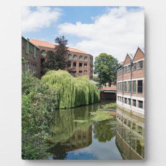 Eine Ansicht des Flusses Foss in York Fotoplatte