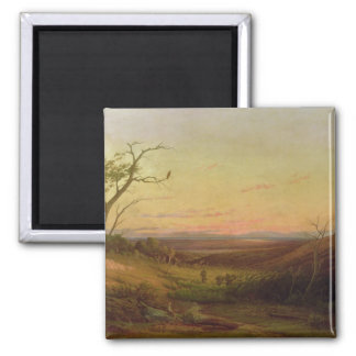 Eine Ansicht von Adelaide am Sonnenuntergang Quadratischer Magnet