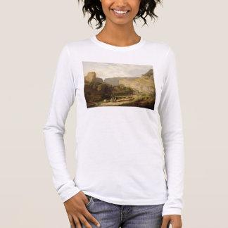 Eine Ansicht von Cheddarkäse-Schlucht (Öl auf Langarm T-Shirt