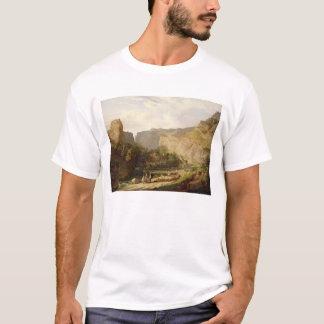 Eine Ansicht von Cheddarkäse-Schlucht (Öl auf T-Shirt