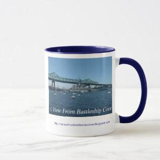 Eine Ansicht von der Schlachtschiff-Bucht-Tasse Tasse