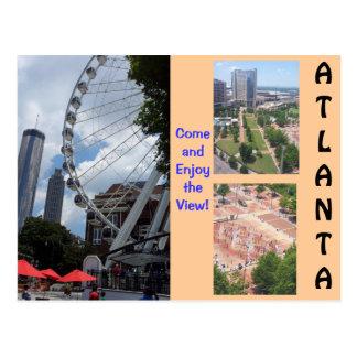 Eine Ansicht von der Spitzenatlanta-Postkarte Postkarte