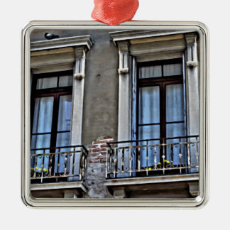 Eine Ansicht von Lido, Venezia Quadratisches Silberfarbenes Ornament